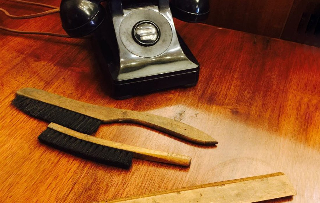 First National Escape vintage phone and clues